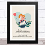 Daddy's Princess Design 17 Dad Father's Day Gift Wall Art Print