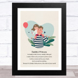 Daddy's Princess Design 18 Dad Father's Day Gift Wall Art Print