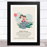 Daddy's Princess Design 19 Dad Father's Day Gift Wall Art Print