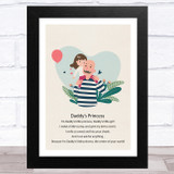 Daddy's Princess Design 20 Dad Father's Day Gift Wall Art Print