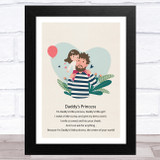 Daddy's Princess Design 5 Dad Father's Day Gift Wall Art Print