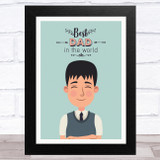 Best Dad In The World Design 16 Dad Father's Day Gift Wall Art Print