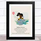 Daddy's Princess Design 8 Dad Father's Day Gift Wall Art Print