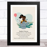 Daddy's Princess Design 9 Dad Father's Day Gift Wall Art Print