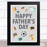 Football Fan Grey Dad Father's Day Gift Wall Art Print