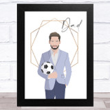 Dad Football Dad In Suit Dad Father's Day Gift Wall Art Print