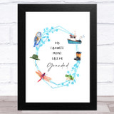 Favourite People Call Me Grandad Dad Father's Day Gift Wall Art Print