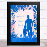 Great Dad Watercolour Father & Child Dad Father's Day Gift Wall Art Print