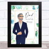 Man In Suit Amazing Dad Dad Father's Day Gift Wall Art Print