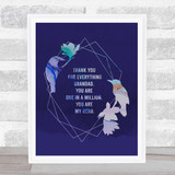 Bird Print Thank You For Everything Grandad Dad Father's Day Gift Wall Art Print