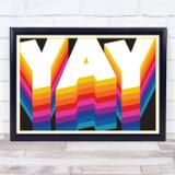 Yay Retro Word Art Wall Art Print