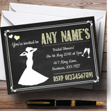 Chalkboard Yellow Customised Bridal Shower Party Invitations