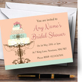 Classical Cake Beautiful Customised Bridal Shower Party Invitations
