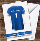 Brighton & Hove Albion Top Best Dad Personalised Father's Day Greetings Card