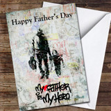 My Father Is My Hero Graffiti Style Personalised Father's Day Greetings Card