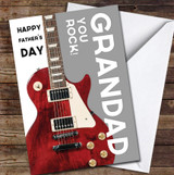 Grandad Electric Guitar You Rock Personalised Father's Day Greetings Card