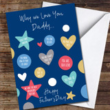 Why We Love You Dad Personalised Personalised Father's Day Greetings Card