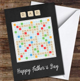 Scrabble Words Dad Personalised Personalised Father's Day Greetings Card