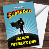Every Day Superdad Comic Style Personalised Father's Day Greetings Card