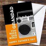 Music Speaker Grandad You Rock Personalised Father's Day Greetings Card