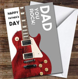 Dad Electric Guitar You Rock Personalised Father's Day Greetings Card