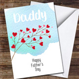 Daddy Beautiful Heart Branch Personalised Father's Day Greetings Card