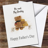 Me And My Daddy Teddy Bears Personalised Father's Day Greetings Card