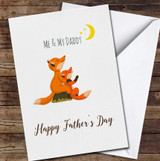 Me And My Daddy Cute Foxes Personalised Father's Day Greetings Card