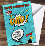 Superhero Dad Personalised Personalised Father's Day Greetings Card