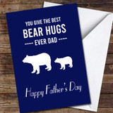 Best Bear Hugs Ever Dad Personalised Father's Day Greetings Card