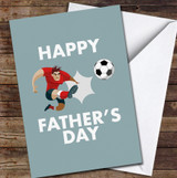 Footballer Kicking Ball Personalised Father's Day Greetings Card