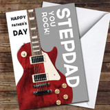Stepdad Guitar You Rock Personalised Father's Day Greetings Card
