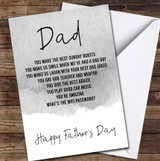 Personalised Grey Dad Personalised Father's Day Greetings Card