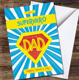 Bright Superhero Dad Personalised Father's Day Greetings Card