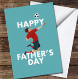 Jumping For Football Personalised Father's Day Greetings Card