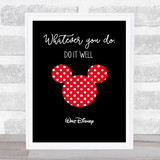 Minnie Mouse Walt Disney Polka Dot Quote Wall Art Print