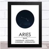 Zodiac Star Sign Constellation Aries Wall Art Print