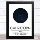Zodiac Star Sign Constellation Capricorn Wall Art Print