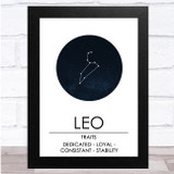 Zodiac Star Sign Constellation Leo Wall Art Print
