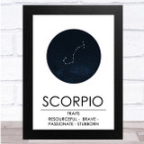 Zodiac Star Sign Constellation Scorpio Wall Art Print