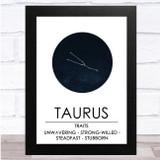 Zodiac Star Sign Constellation Taurus Wall Art Print