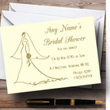 Cream Elegant Customised Bridal Shower Party Invitations