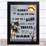 Treats Poems Drawing Haunted House Halloween Wall Art Print