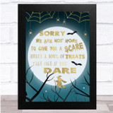 Witch Gold Moon Spider Webs Treats Poem Wall Art Print