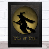 Witch Gold Moon Trick Or Treat Wall Art Print