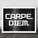 Carpe Diem Metallic Shine Wall Art Print