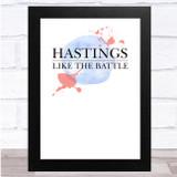 Line Of Duty Hastings Like The Battle Fade Splatter Wall Art Print