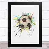 Football Colourful Splatter Wall Art Print