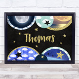 Landscape Universe Chalk Gold Any Name Personalised Wall Art Print