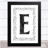 Music Notes Chalk Any Initial Personalised Wall Art Print